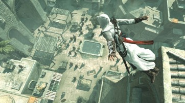 "A city from AC1 as shown via a ""Leap of faith"""